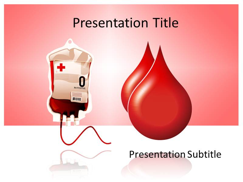 Blood donation powerpoint template background of blood drop for Blood ppt templates free download