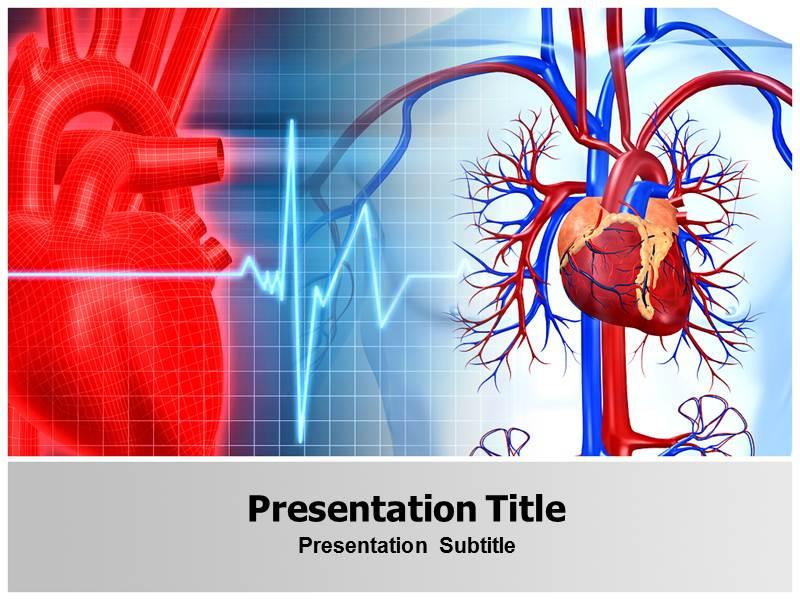 cardiovascular powerpoint template free cardiovascular with blue and red powerpoint templates