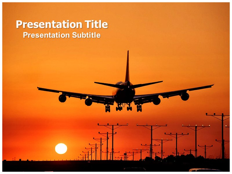 Airport Powerpoint Templates And Backgrounds