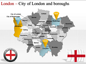London Maps ppt templates