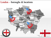 London Maps power Point templates