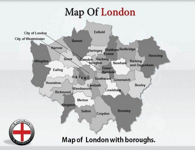 London Maps PPT Presentation Template