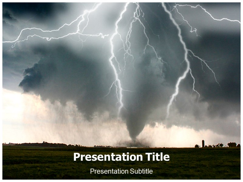 terrible storm powerpoint templates and backgrounds
