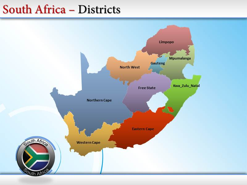 South africa map powerpoint templates and backgrounds download toneelgroepblik Choice Image