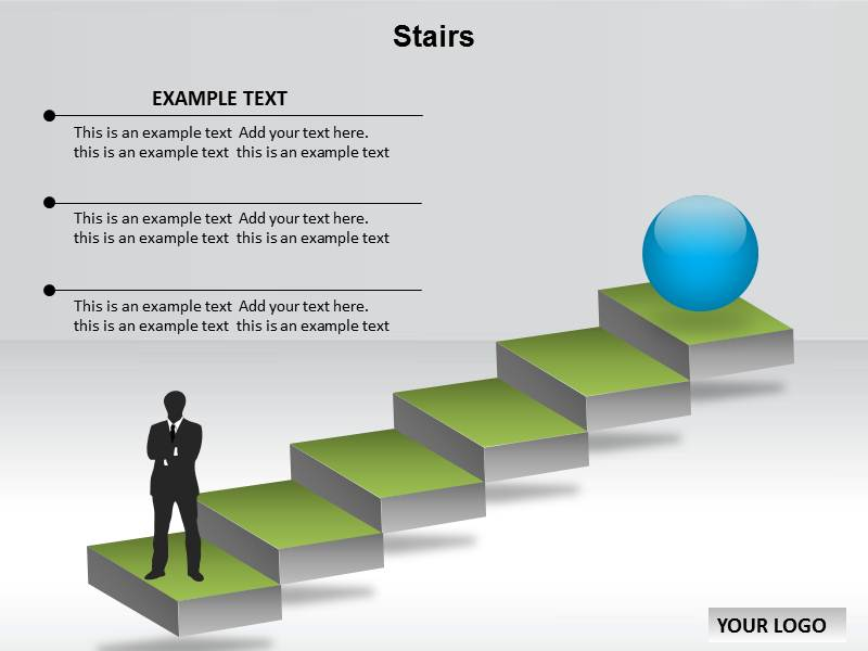 stairs powerpoint template background of steps step by step
