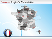 Map of France powerpoint template download