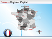 Map of France ppt templates
