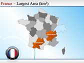 Map of France slides for powerpoint