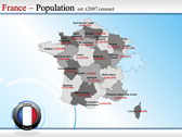 Map of France power Point templates