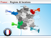 Map of France powerPoint background