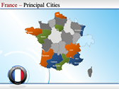 Map of France powerpoint backgrounds download