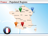 Map of France power Point Backgrounds