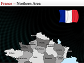 Map of France powerpoint backgrounds