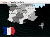 Map of France themes for power point