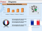 Map of France power point background templates