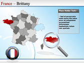 Map of France power point background graphics