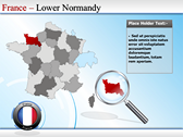 Map of France powerPoint themes
