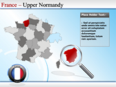 Map of France power Point theme