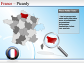 Map of France powerpoint slides download