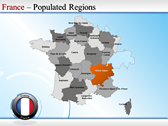 Map of France powerpoint theme download