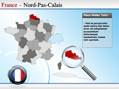 Map of France powerpoint theme templates