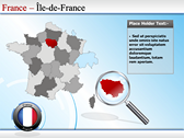 Map of France powerpoint theme professional