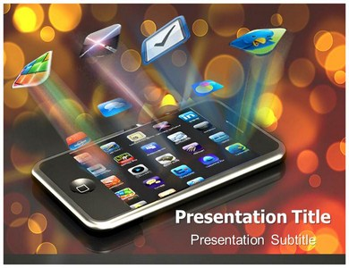 mobile apps powerpoint templates background of phones, gadgets, Presentation templates