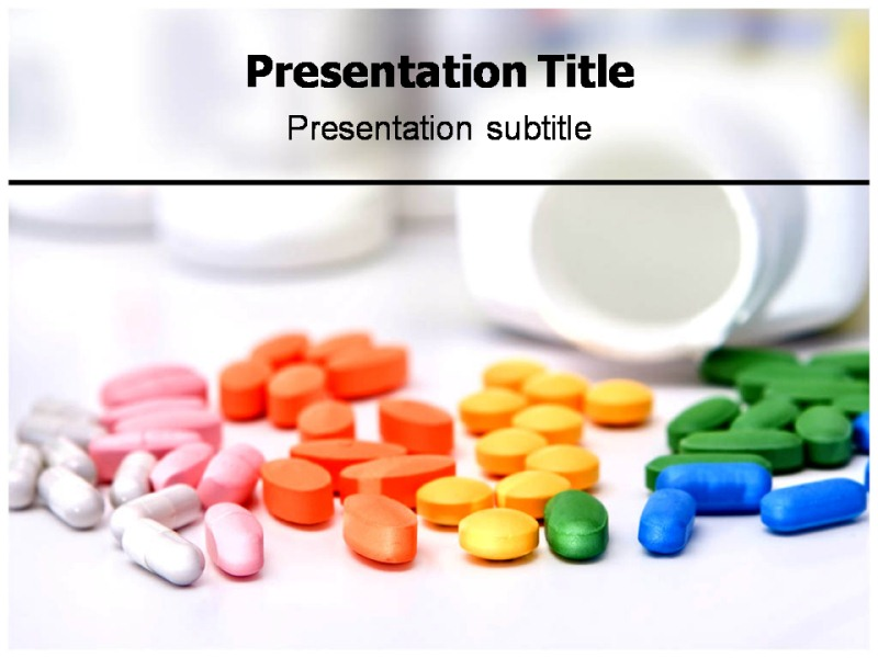 Colorful Medicine Pills PowerPoint Templates and Backgrounds