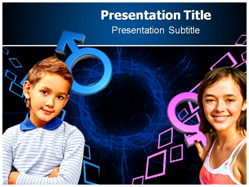 Gender PowerPoint Template, Gender Templates For PowerPoint