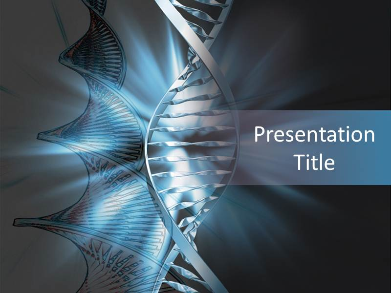 Dna powerpoint template background of genes cells download toneelgroepblik Choice Image