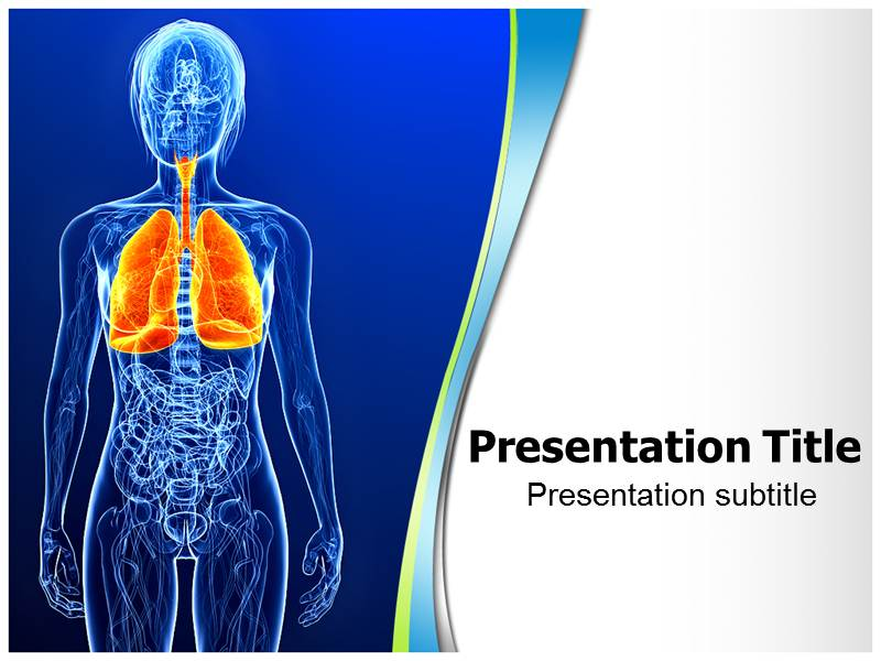 Respiratory System PowerPoint Template Functions, Background Slides ...