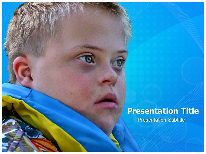 Down Syndrome PowerPoint Templates and Backgrounds