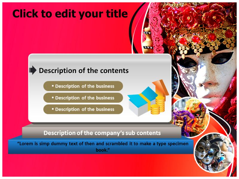 carnival season powerpoint templates ppt backgrounds slides