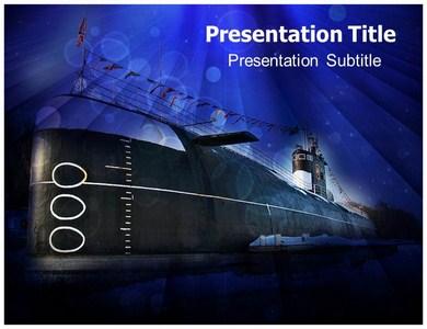 Navy Submarine Ppt Presentation Template