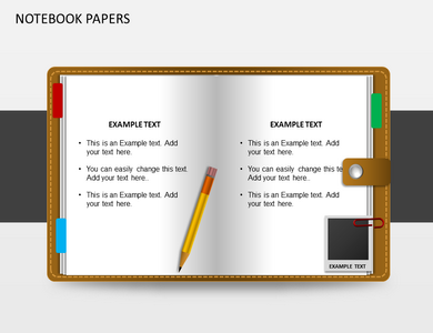 notebooks papers powerpoint templates and backgrounds, Modern powerpoint