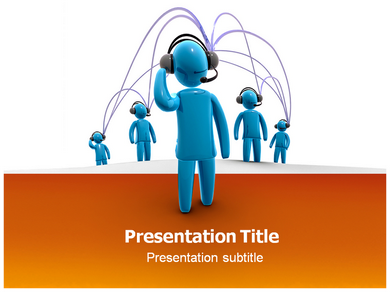 Connected people with white and orange powerpoint templates connected people ppt presentation template toneelgroepblik Choice Image