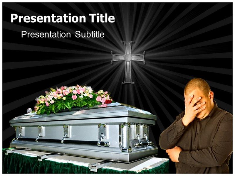 Free Funeral Background PowerPoint Template