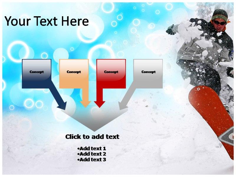 snowboarding powerpoint ppt templates snowboarding