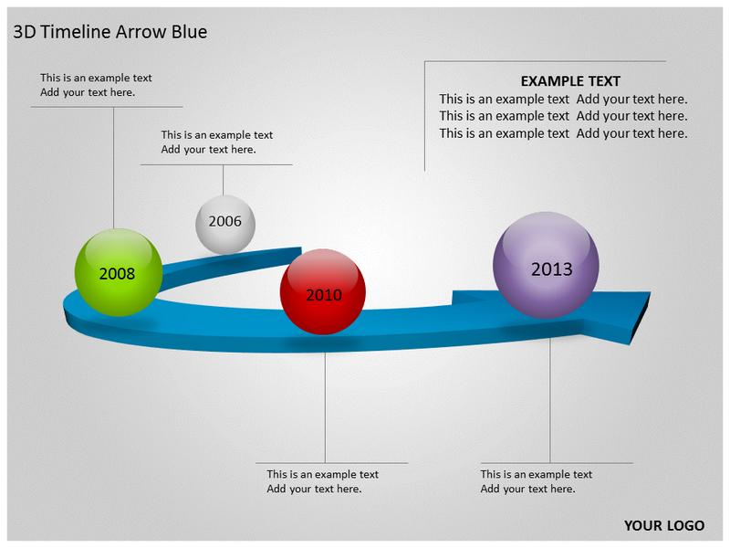 3d timeline arrow blue powerpoint template background of 3d animated slides. Black Bedroom Furniture Sets. Home Design Ideas