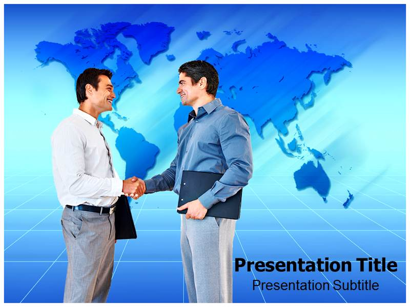 Self Introduction With Two Man Shaking Hands PowerPoint Templates ...