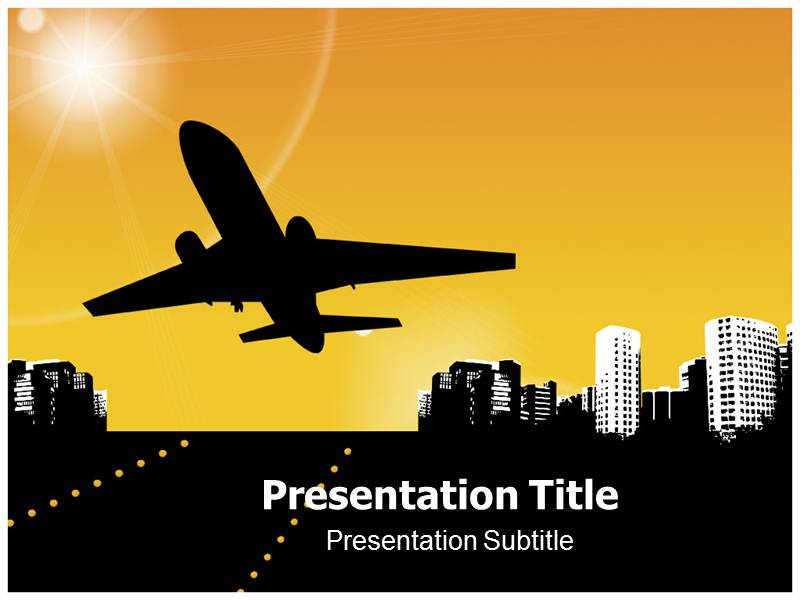 airplane powerpoint template - the best airplane 2017, Modern powerpoint