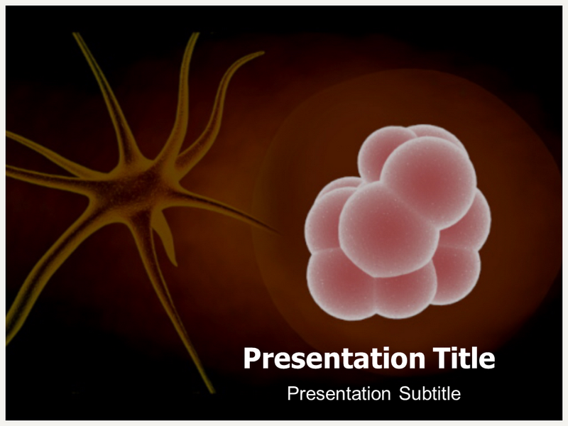 stem cell and neuron powerpoint templates and backgrounds, Modern powerpoint