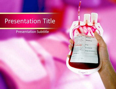 donor powerpoint template background of blood, donation, Modern powerpoint