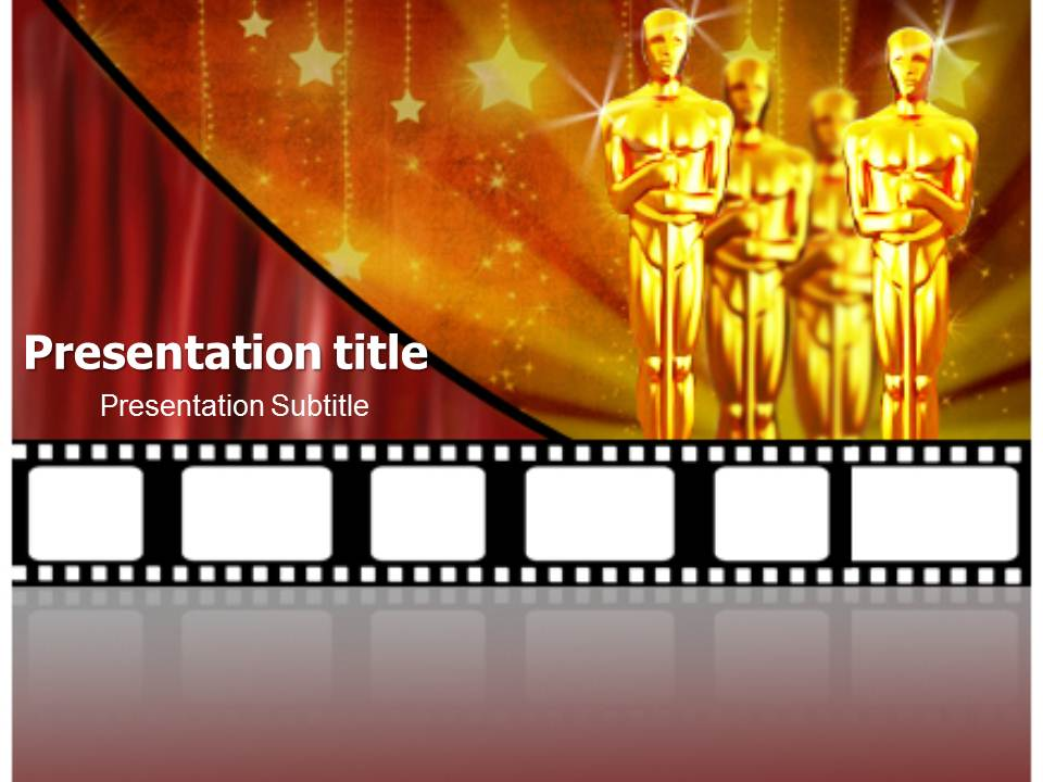 the academy awards powerpoint templates and backgrounds, Modern powerpoint