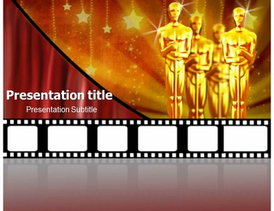 The academy awards powerpoint templates and backgrounds the academy awards ppt presentation template pronofoot35fo Images
