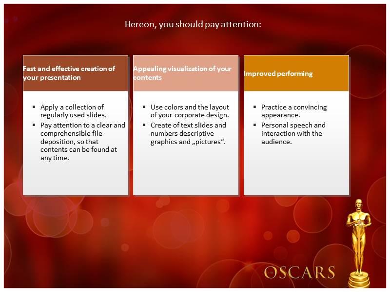 Oscar award ppt templates powerpoint themes backgrounds download toneelgroepblik Images