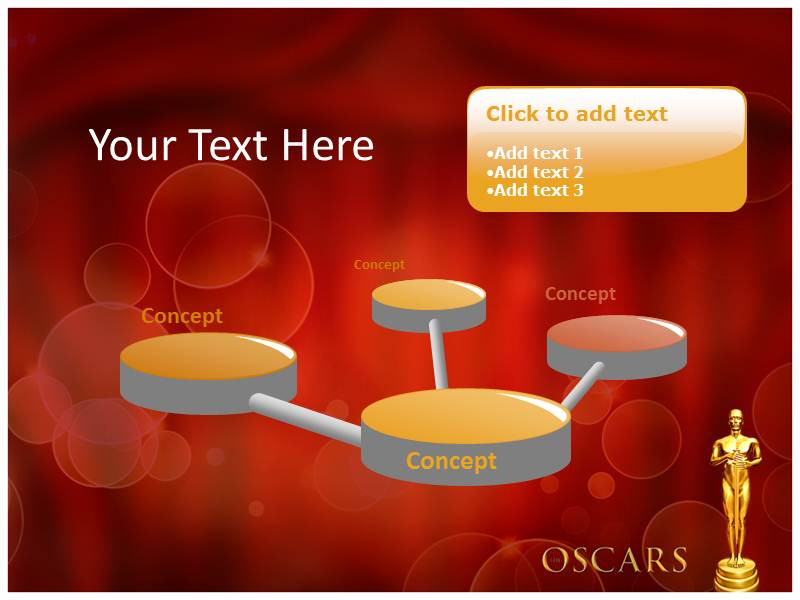 Oscar award ppt templates powerpoint themes backgrounds download toneelgroepblik Choice Image