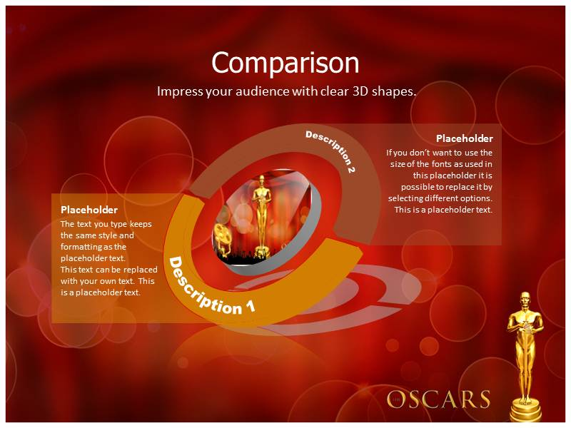 Oscar award ppt templates powerpoint themes backgrounds download toneelgroepblik Gallery