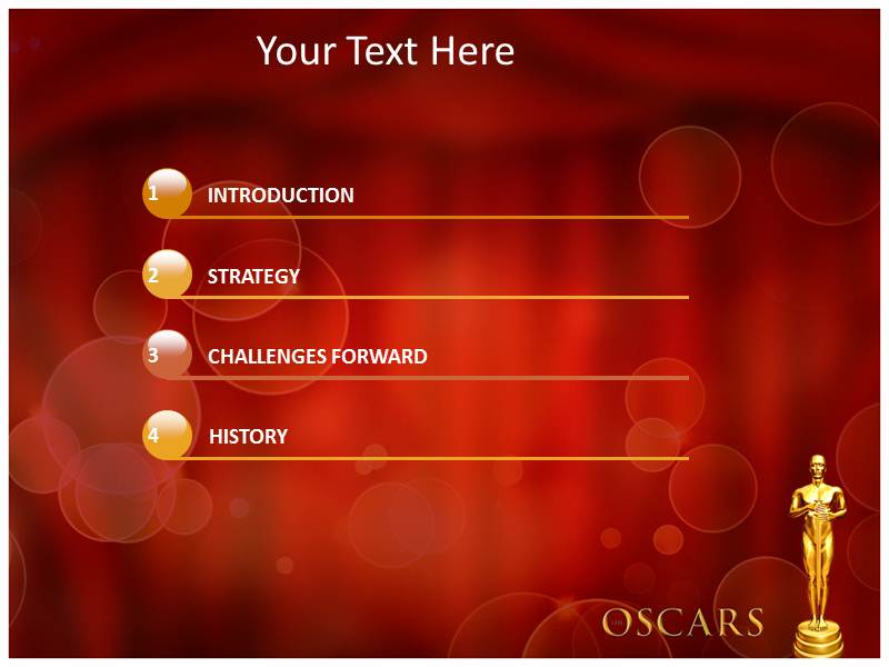 oscar award ppt templates, powerpoint themes, backgrounds, Modern powerpoint