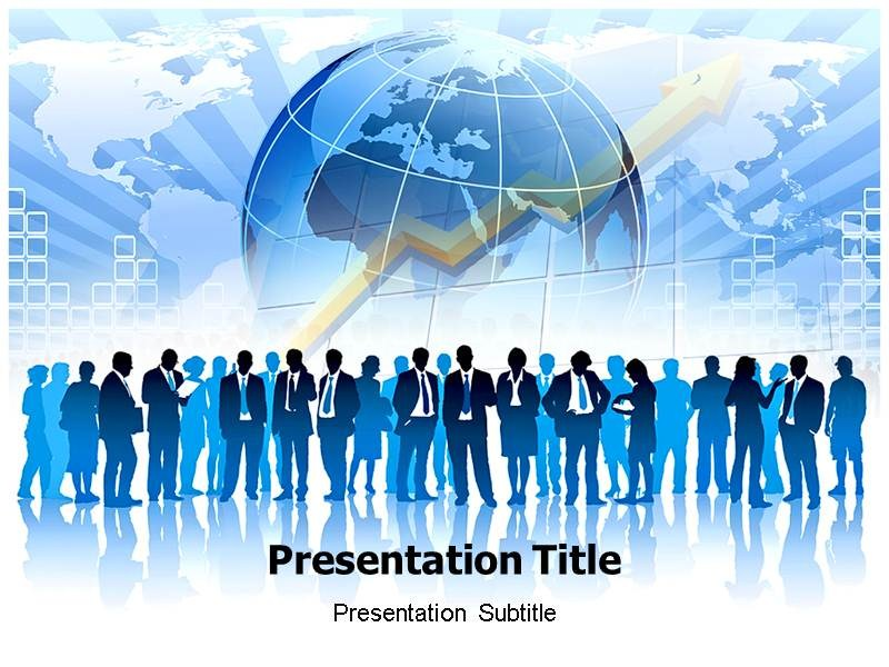 global business with white powerpoint templates